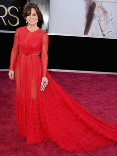Sally Field in Valentino gown.