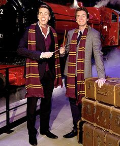 Hogwarts Express launch event, WB Studio Tour (3/17/2015) ♛ phelps twins ♛