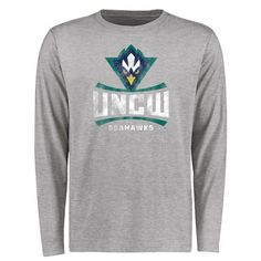 UNC Wilmington Seahawks Big & Tall Classic Primary Long Sleeve T-Shirt - Ash - $29.99