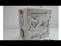 Tutorial caja doble Shaker Stamperia Little girl Diy Mini Album, Mini Albums, Album Scrapbook, Girls Album, Baby Album, Scrapbooks, Little Girls, Projects To Try, Decorative Boxes