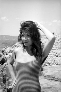 Juliette Greco, French singer, in August 3, 1959.