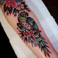What Are Neo Traditional Tattoos? 45 Stunning Neo Traditional Tattoo Ideas For You To Get Was sind traditionelle Neo-Tattoos? Bild Tattoos, Neue Tattoos, Body Art Tattoos, Sleeve Tattoos, Tatoos, Color Tattoos, Traditional Tattoo Flowers, Traditional Tattoo Design, Traditional Tattoo Sleeves