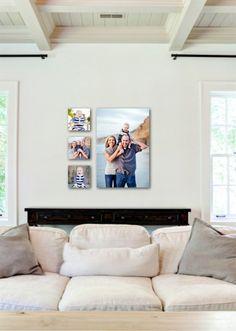 Canvases. Family Portraits. Beach. Ashley DuChene Photography