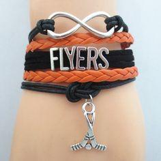 Infinity Love Philadelphia Flyers Hockey Bracelet BOGO