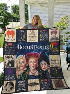 Hocus Pocus Anniversary Squad I Am Calm Quilt Blanket Gift for Godmother, Sweetheart (My Girl), Godson, Stepbrother and your Grandparents Fall Halloween, Halloween Party, Halloween Table, Halloween Signs, Halloween Ideas, Halloween Bedroom, Halloween Quilts, Halloween House, Halloween Halloween