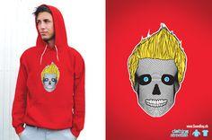 Skull :: www. Skull, Hoodies, Sweaters, Red, Fashion, Moda, Parka, Sweater, Pullover