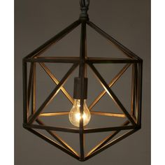 Noir Diamond C 1 Light Foyer Pendant & Reviews | Wayfair