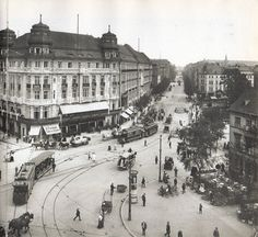 Potsdamer Platz, Classical Architecture, Historical Photos, Old School, Street View, Modern, Monochrome, Classic Architecture, Historical Pictures