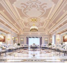 Luxury Majlis on Behance Classic Interior, Luxury Interior, Interior Design Companies, Furniture Design, Mansions, Architecture, Behance, House Styles, Villa