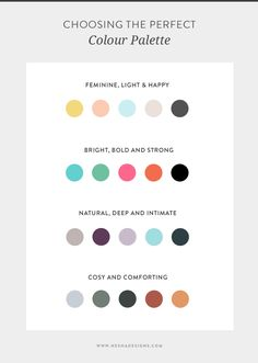 How to choose the perfect colour palette for your small business — Nesha Designs