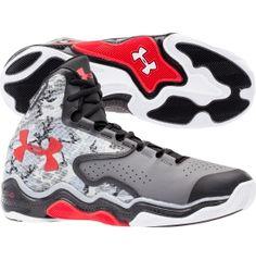 Under Armour Men's ClutchFit Lightning Basketball Shoe - Grey/Red | DICK'S Sporting Goods