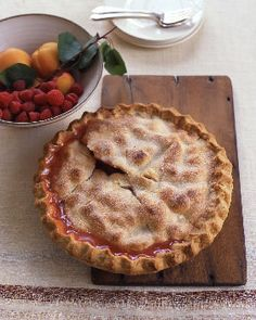 Apricot Raspberry Pie | Epicurious.com