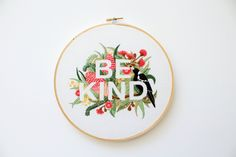 How beautiful are the colors and textures in this gorgeous negative space embroidery pattern by Threadfolk on Etsy? This gorgeous design, designed by Lauren Merrick and stitched by Threadfolk is part