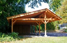 Timber Frame Carport | timber frame carport in Wyncote, PA.