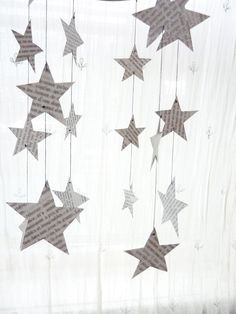 "Another classroom idea. The theme this year is ""shining stars"". Cut stars out of sheet music. Good-bye pop sheet music from Sam Goody. **Cut out ANYTHING with old sheet music! Pop Sheet Music, Sheet Music Crafts, Book Page Crafts, Book Page Art, Noel Christmas, Christmas Crafts, Paper Art, Paper Crafts, Diy Crafts"