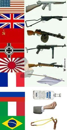 a arma de cada país