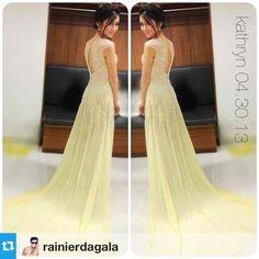 .@Kathryn Bernardo | Thank you for the beautiful gown @Francis Kinder Libiran. #Repost from @rainierdagala with @r... | Webstagram - the best Instagram viewer