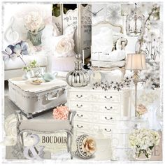 Shabby Chic Set by szaboesz on Polyvore featuring interior, interiors, interior design, home, home decor, interior decorating, Possini Euro Design, Shabby Chic, Chooty & Co. and GreenGate