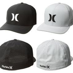 8b288f73c4a HURLEY NWT Nike Dri Fit Phantom Vapor 3.0 Hat FlexFit Grey Black Stretch Cap   Hurley