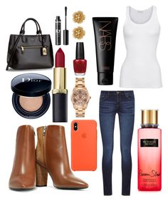 """Untitled #12523"" by ohnadine on Polyvore featuring IRO, NYX, Jennifer Lopez, OPI, Miriam Haskell, American Vintage, DL1961 Premium Denim, Victoria's Secret and NARS Cosmetics"