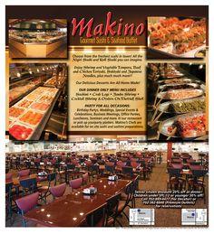 Nigiri Sushi, Sashimi, Seafood Buffet, Japanese Noodles, Tempura, Fresh Rolls, Delicious Desserts, Las Vegas, Menu