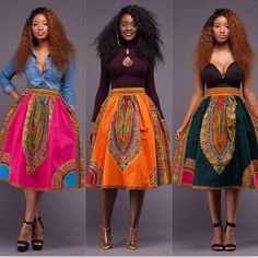 African Fashion Explosion Models Retro National Wind Totem Printing Skirt