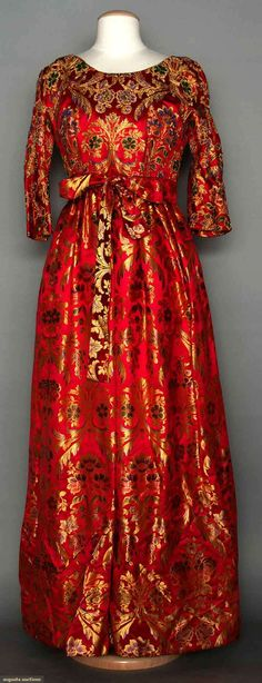 Beaded Brocade Evening Gown, Italy, 1958, Augusta Auctions, MAY 13th & 14th, 2014, Lot 121