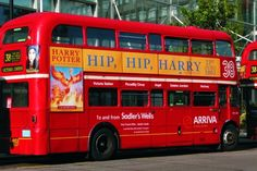 London sweet London....I want to go on this bus, especially since it has Harry Potter on it!!! lol
