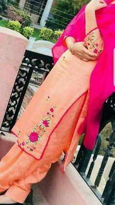 @appu Designer Punjabi Suits Patiala, Women Salwar Suit, Punjabi Suits Designer Boutique, Boutique Suits, Indian Designer Suits, Punjabi Boutique, Punjabi Suit Neck Designs, Patiala Suit Designs, Embroidery Suits Punjabi