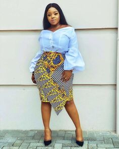 ankara stil Lovable Ankara Skirt Designs : Best of the Best Collection Ankara Gown Styles, Trendy Ankara Styles, Ankara Dress, Kente Styles, African Print Skirt, African Print Dresses, African Print Fashion, African Prints, Africa Fashion