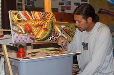 Derek DeYoung painting a Trout Confetti www.derekdeyoung.com Pourquoi se casser la tête ?