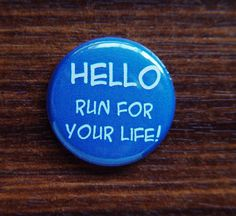 """""""Hello, Run for your Life - Doctor Who"""" Magnet by The BusyBadger"""