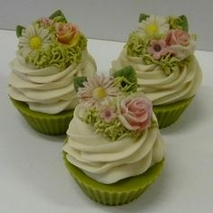 One of our new summer floral soap cupcakes- Fairy Garden http://www.purosoaps.com/cupcakes-made-of-natural-soap-s/36.htm