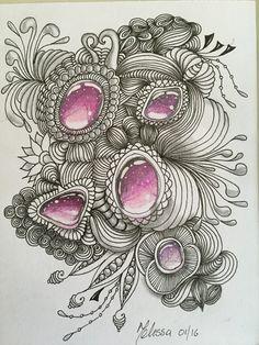 Wunderschöne Zentangle inspirierte Kunst von WholeheartedCreation