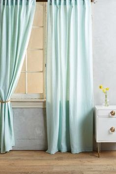 Anthropologie Indigo Sky Curtain #anthrofave