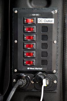 West Marine: x6 15amp circuit breakers • Blue Sea Marine USB Switch • Cigarette Lighter