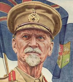 South African leader Jan C. Smuts 1944 TIME cover art by Boris Chaliapin