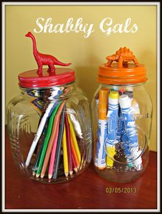 Shabby Gals: Fun & Colorful Jars