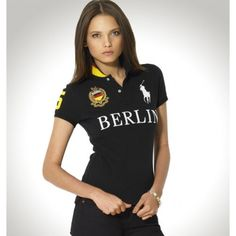 Ralph Lauren Women BERLIN Black Big Pony Polo http://www.ralph-