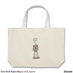 Cats Stick Figure Bag