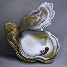 """Carlos Lopez, """"Lady Oyster"""", 36 x 36, Oil on Canvas 