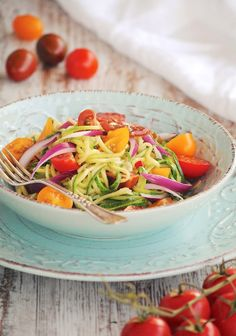 Cocinando con Neus: Ensalada de spaguettis de calabacín con soja