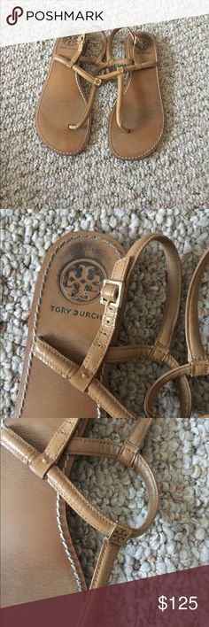 Tory burch sandals Super simple super cute Tory burch sandals! Not sure of the size but fits a 7.5-8 Frye Shoes Sandals