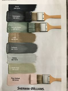 24 Ideas For Farmhouse Paint Colors Pottery Barn 24 Ideas For. - 24 Ideas For Farmhouse Paint Colors Pottery Barn 24 Ideas For Farmhouse Paint Co - Green Paint Colors, Bedroom Paint Colors, Interior Paint Colors, Paint Colors For Home, Wall Colors, House Colors, Sage Green Paint, Colours, Office Paint Colors