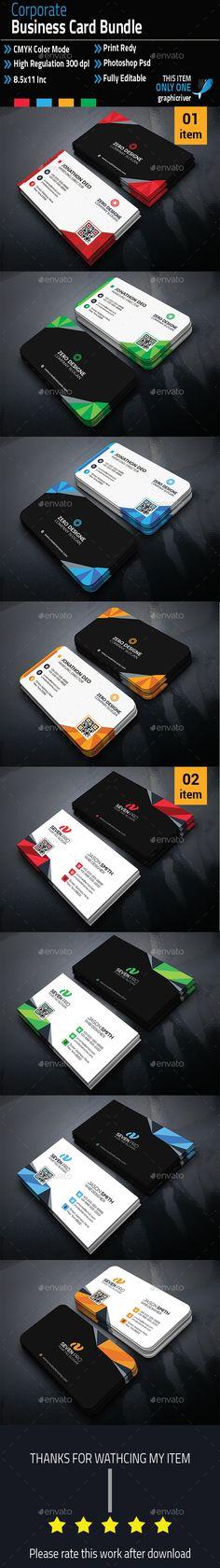 Corporate Business Card Bundle Creative Cards Print Templates