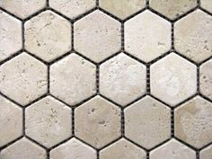 Hexagon 2x2 TUMBLE Light Beige Travertine Mosaics Meshed on 12x12 Sheet Tiles for Kitchen Backsplash, Shower Walls, Bathroom Floors - Amazon.com