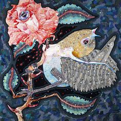Del Kathryn Barton's illustratations for Oscar Wilde's 'The Nightingale and the Rose' Monet, Picasso, Del Kathryn Barton, Art Society, Museum Of Contemporary Art, Nightingale, Australian Artists, Wildlife Art, Oscar Wilde