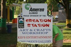 The Entrance for our Kid's Creation Station.  #MidwestSalute