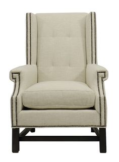 Vanguard Furniture: W117-CH Albert Wing Chair in Vanguard Furniture: 152579 - TREXLER DOVE (Fabric)