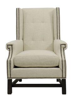 Vanguard Furniture: W117-CH Albert Wing Chair in Vanguard Furniture: 152579 - TREXLER DOVE (Fabric)